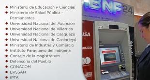 Mediante la red del Banco Nacional de Fomento (BNF) están habilitados para cobrar hoy los funcionarios.