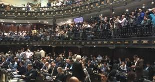 Ayer, durante la Asamblea Nacional de Venezuela.