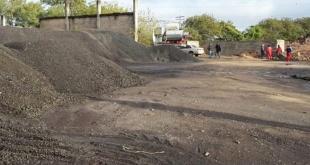 Parte del predio donde se depositan los materiales de la planta asfáltica de la Municipalidad de Asunción.