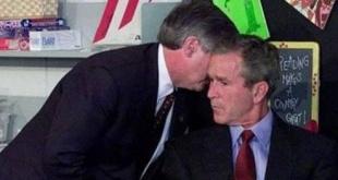Momento en que el entonces presidente George W. Bush se enteró de los atentados del 11-S.
