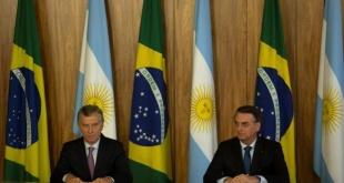El presidente argentino, Mauricio Macri, compareció hoy junto al jefe de Estado brasileño, Jair Bolsonaro.