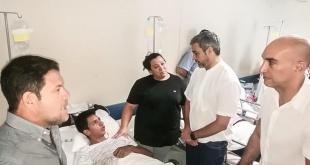 El presidente de la República, Mario Abdo Benítez, visitó a los enfermos del IPS.