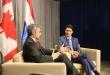 El presidente Mario Abdo y el primer ministro Justin Trudeau, en Nueva York, en setiembre del año pasado.