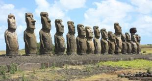 Los moáis solo se encuentran en la Isla de Pascua.