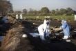 Así quedó la zona de la catástrofe donde trabajan las autoridades y equipos de emergencias.