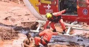 Los equipos de rescate evacuaron a las personas que viven en las comunidades rurales de Córrego do Feijao y Tejuco.