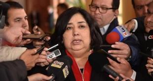 Teresa Martínez,  ministra de la Niñez y Adolescencia.