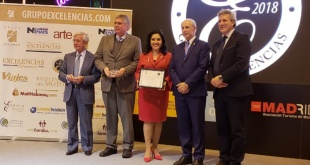 Ayer, durante la entrega del premio Excelencias Gourmet 2018.