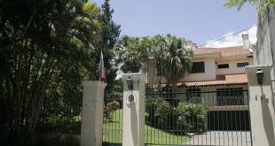 Sede de la embajada venezolana en Paraguay. El presidente Abdo Benítez anunció hace algunos días el rompimiento de las relaciones diplomáticas con el país caribeño.