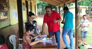 Las agrupaciones políticas  acudieron al Juzgado Electoral de Salto del Guairá para la presentación de las candidaturas.