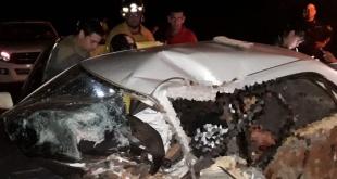 .- Una madre y su hijo resultaron muertos a consecuencia de un accidente de tránsito ocurrido en la noche del martes último. Foto: Gentileza.