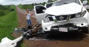 La víctima fatal fue identificada como Juan Roberto Meza, quien circulaba en una motocicleta Star. Foto: Gentileza.