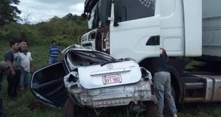 El accidente ocurrió a las 11:40 de este sábado en el Km 135 de la ruta VII Dr. Gaspar Rodríguez de Francia, en la ciudad de Coronel Oviedo. Foto: GentilezaLavozdigitalypanePy_Oficial.