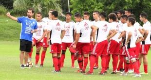 La Selección Paraguaya Sub 20 se apresta para lo que será su participación en el Sudamericano de Chile. (Foto @Albirroja)