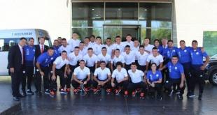 La delegación Nacional ya se encuentra en Chile a la espera del debut en el Sudamericano Sub 20. (Foto @Albirroja).