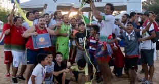 Así  celebró Areguá  su título en la sexta etapa de la primera edición de la Superliga.
