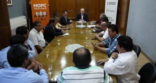 Ayer durante la reunión entre las autoridades del departamento de San Pedro y del MOPC.