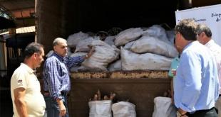 La mandioca y otros productos fueron fraccionadas en bolsas de unos 40 kg cada una.