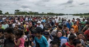 La caravana de migrantes que en octubre pasado llegó a México.