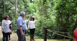 Durante la visita realizada Circuito Vivencial Mundo Guaraní.