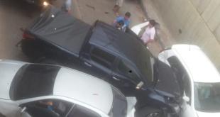 El tránsito está paralizado en la zona hasta que los vehículos puedan ser removidos. Foto: @pmtasuncion1.
