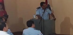 Los efectivos policiales de la Dirección de Policía de Alto Paraná presentaron en la mañana de este martes los resultados del operativo fiesta segura. Foto: Gentileza.