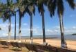 La playa de la costanera de Hernandarias es el principal atractivo del Complejo Turístico de Itaipú, lado paraguayo.