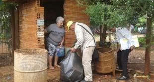 Durante el trabajo de rastrillaje se encuentra gran cantidad de basura y objeto en desuso.