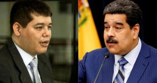 El magistrado del Tribunal Supremo de Justicia Cristhian Zerpa y el presidente Nicolás Maduro.