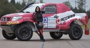 Andrea Lafarja, la primera paraguaya en participar de un Dakar.