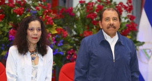 El presidente nicaragüense Daniel Ortega y la vicepresidenta (su esposa) Rosario Murillo.