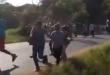 Un violento desalojo está llevando a cabo los efectivos policiales en la localidad de Salado de la ciudad de Limpio. Foto: Captura de video de Radio Ñandutí.