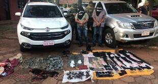 Los detenidos fueron  identificados como, Andrés Peña y Carmelo Benítez.Foto: @MaritoAbdo.