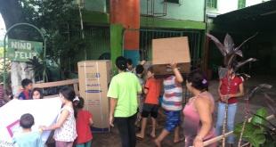 La donación se realizó en carácter de reparación daño social consistente en una heladera, un horno eléctrico, lavarropas y otros.