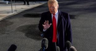 El presidente de los EE.UU., Donald Trump, durante un encuentro con periodistas.