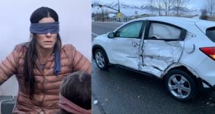 Personas practicando el reto Bird Box protagonizaron un accidente de tránsito. Foto: ilustración.