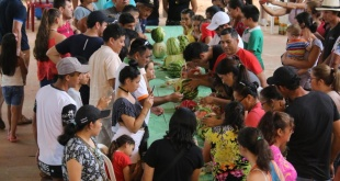 Durante dos días, los más de 160 agricultores expusieron lo mejor de su producción. Foto; Senatur.