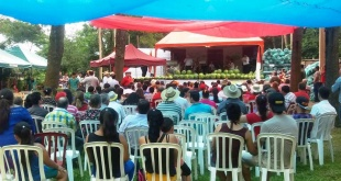 """Edición pasada de la """"Fiesta Nacional de la Sandía"""", en el distrito de Trinidad, en el departamento de Itapúa."""