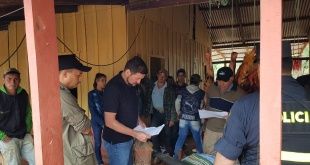 El operativo se hizo a fin de verificar la deforestación de 6000 ha y constatar si se cuenta con documentos respaldatorios para la autorización de ello.