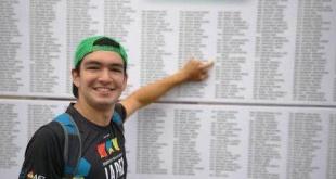 Gabriel Centurión culminó en el 30º puesto de 449 competidores.