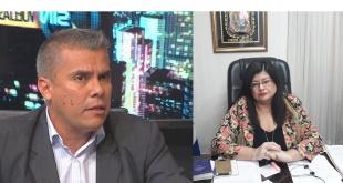 Dr. Eduardo González, abogado defensor. Carolina Llanes, interventora.