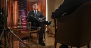 El mandatario Jair Bolsonaro, durante un reportaje.