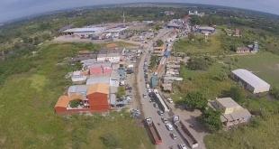 Excelente vista de la zona de Puerto Falcón, en la frontera de nuestro país con la Argentina.