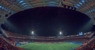 """Todo listo para """"La Noche Azulgrana"""", oportunidad en que Cerro Porteño presentará a su plantel para la temporada 2019. (Foto Prensa Cerro)."""