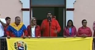 Nicolás Maduro se manifestó desde el Palacio de Miraflores.