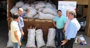 La donación de los 10.000 kilos de mandioca fue entregada a la SEN para su posterior distribución.