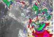 Se esperan lluvias con tormentas eléctricas moderadas a fuertes, ráfagas de vientos moderadas a fuertes y la ocasional caída de granizos.