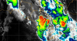 . Se prevén intensas lluvias con tormentas eléctricas moderadas, ráfagas de vientos moderadas a fuertes y con menor probabilidad la ocasional caída de granizos.