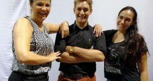 Maricha Olitte, Fabio Esteche y Silvia Flores. Foto: ABC Color