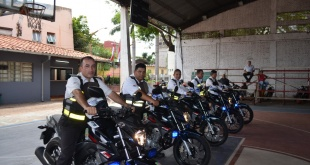 La Policía Municipal de San Lorenzo recibió cinco unidades de motocicletas cero kilómetro.